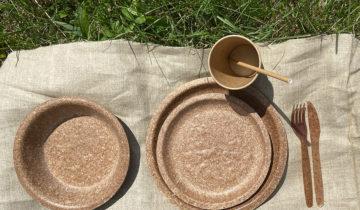 Naczynia jednorazowe z otrąb pszennych
