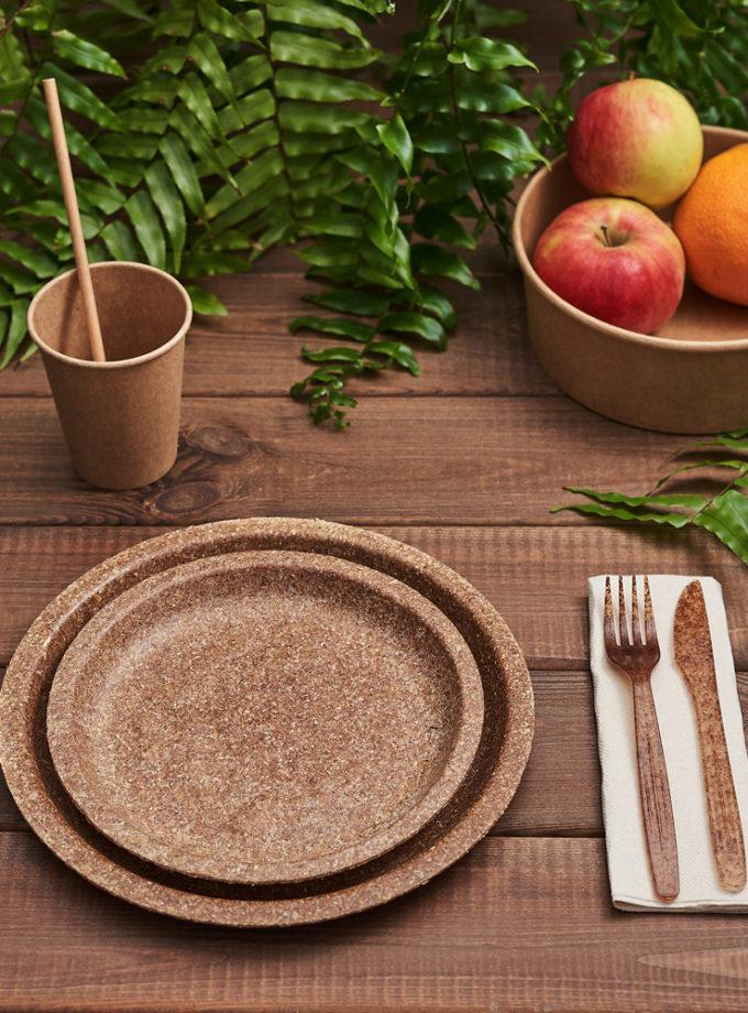 Zestaw naczyń z otrębów pszennych