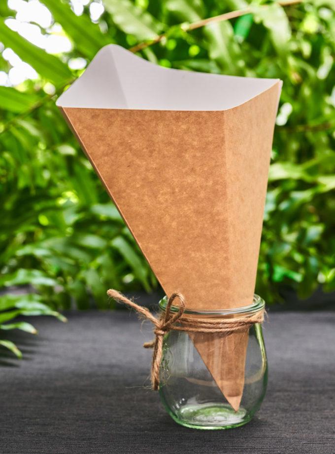 Rożek papierowy na frytki