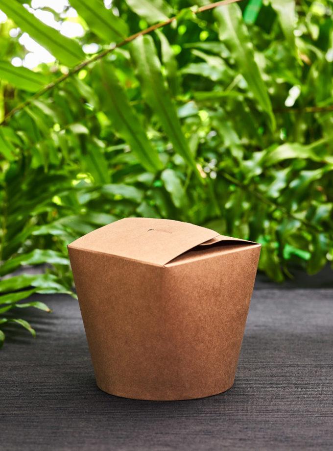 brązowe, ekologiczne pudełko papierowe