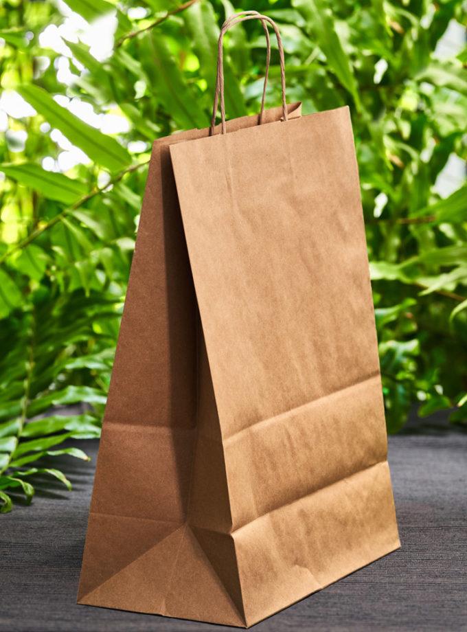 duża, brązowa torba ekologiczna z papieru