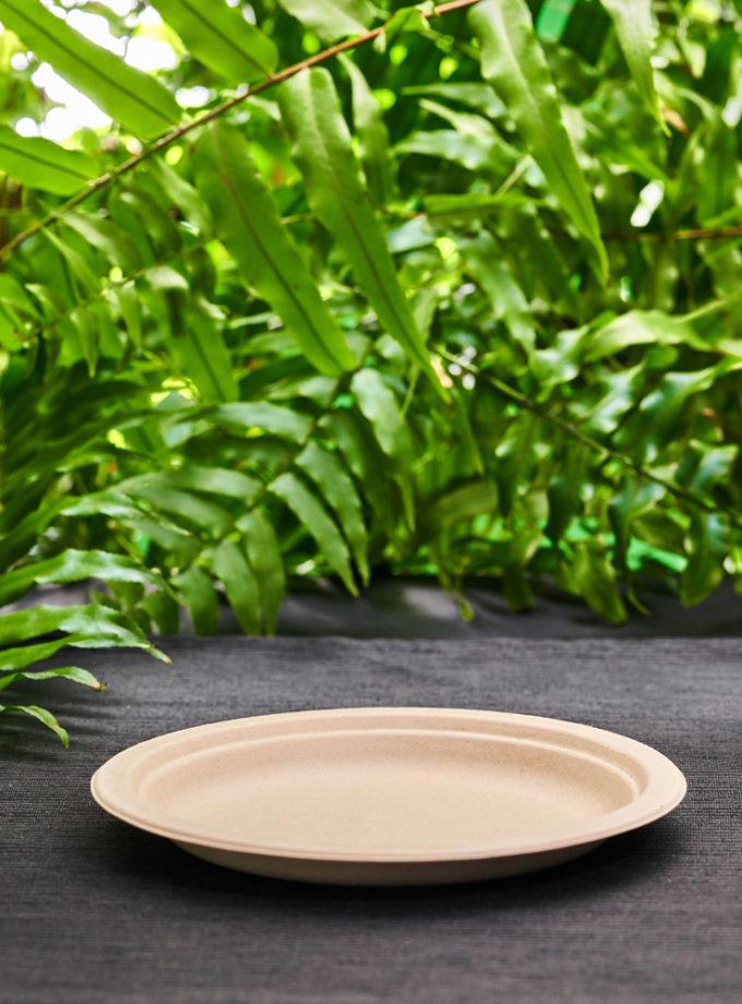 mały eko talerz z trzciny cukrowej