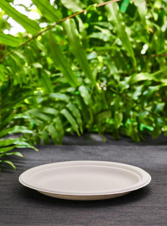 mały talerz przystawkowy z ekologicznej trzciny cukrowej