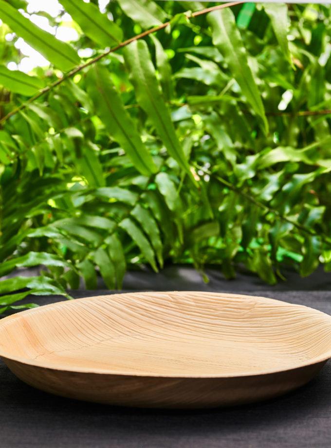 talerz z liści palmowych duży