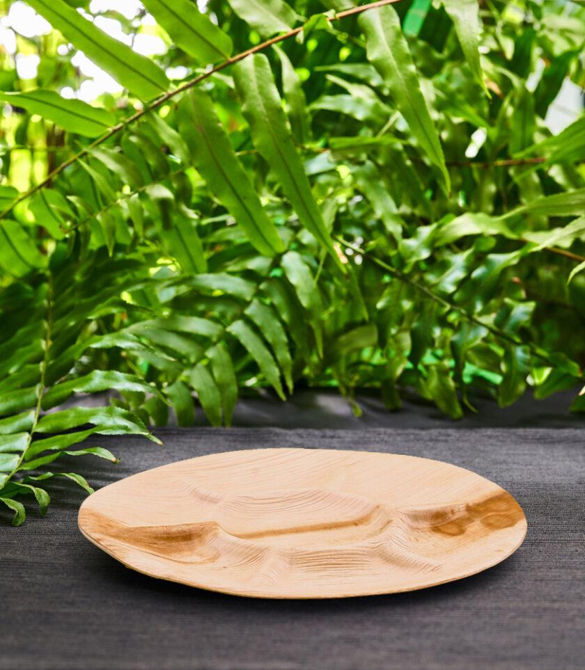 Talerz dzielony z liści palmowych